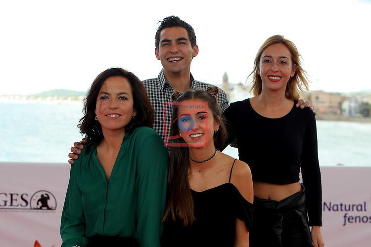 49 Festival Internacional de Cinema Fantastic de Catalunya-Sitges 2016.<br /> Photocall Salvacion.<br /> Daniel Garcia, Denise Castro, Marina Boti &amp; Laura Yuste.