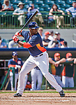 12 March 2014: Houston Astros infielder Chris Carter in action during a Spring Training game against the Washington Nationals at Osceola County Stadium in Kissimmee, Florida. The Astros rallied in the bottom of the 9th to edge out the Nationals 10-9 in Grapefruit League play. Mandatory Credit: Ed Wolfstein Photo *** RAW (NEF) Image File Available ***