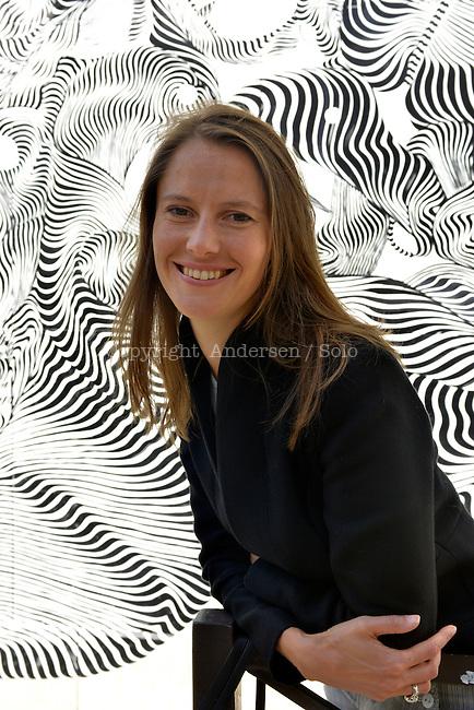 Celine Curiol, French writer in September 2012.