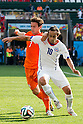 Daryl Janmaat (NED), Jorge Valdivia (CHI), JUNE 23, 2014 - Football / Soccer : FIFA World Cup Brazil 2014 Group B match between Netherlands 2-0 Chile at Arena de Sao Paulo Stadium in Sao Paulo, Brazil. (Photo by Maurizio Borsari/AFLO)