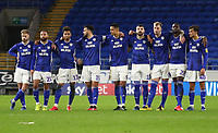 4th February 2020; Cardiff City Stadium, Cardiff, Glamorgan, Wales; English FA Cup Football, Cardiff City versus Reading; Cardiff City players look dejected after missing the first two penalties