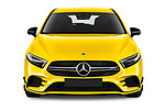 Car photography straight front view of a 2019 Mercedes Benz A-Class - 5 Door Hatchback Front View