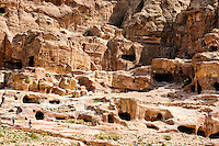 Petra is Jordan's most visited tourist attraction. Rock-cut tomb.