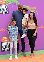Corey Brewer, Monique Mongalo &amp; Guests at Nickelodeon's Kids' Choice Sports 2017 at UCLA's Pauley Pavilion. Los Angeles, USA 13 July  2017<br /> Picture: Paul Smith/Featureflash/SilverHub 0208 004 5359 sales@silverhubmedia.com