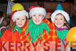 Emer O'Dowd, Julie Delaney and Tara Russell-Kissane at the Christmas in Killarney parade on Friday night....