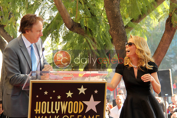 Kevin Nealon, Cheryl Hines<br /> at the Cheryl Hines Star on the Hollywood Walk of Fame, Hollywood, CA 01-29-14<br /> David Edwards/DailyCeleb.Com 818-249-4998