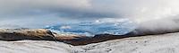 View north from Tjäktja mountain hut to Alisvaggi, Kungsleden Trail, Lappland, Sweden