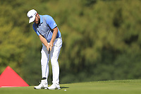 Tyrrell Hatton (ENG) on the 2nd green during the 2nd round of the WGC HSBC Champions, Sheshan Golf Club, Shanghai, China. 01/11/2019.<br /> Picture Fran Caffrey / Golffile.ie<br /> <br /> All photo usage must carry mandatory copyright credit (© Golffile   Fran Caffrey)