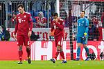 13.03.2019, Allianz Arena, Muenchen, GER, UEFA CL, FC Bayern Muenchen (GER) vs FC Liverpool (GBR) ,Achtelfinale, UEFA regulations prohibit any use of photographs as image sequences and/or quasi-video, im Bild enttaeuscht  Manuel Neuer (FCB #1) Mats Hummels (FCB #5) Thiago (FCB #6) <br /> <br /> Foto &copy; nordphoto / Straubmeier