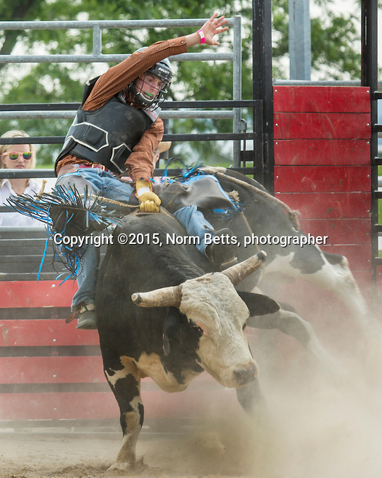 The RAM RodeoTour,  July 11th and 12th at the fairgrounds in Orangeville, Ontario, Canada<br /> <br /> &copy;2015, Norm Betts, photographer <br /> 416 460 8743<br /> normbetts@canadianphotographer.com