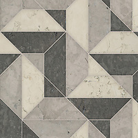 Zachary Grand, a hand-cut stone mosaic, shown in honed Bianco Antico, Cavern, and Palomar, is part of the Semplice™ collection for New Ravenna.