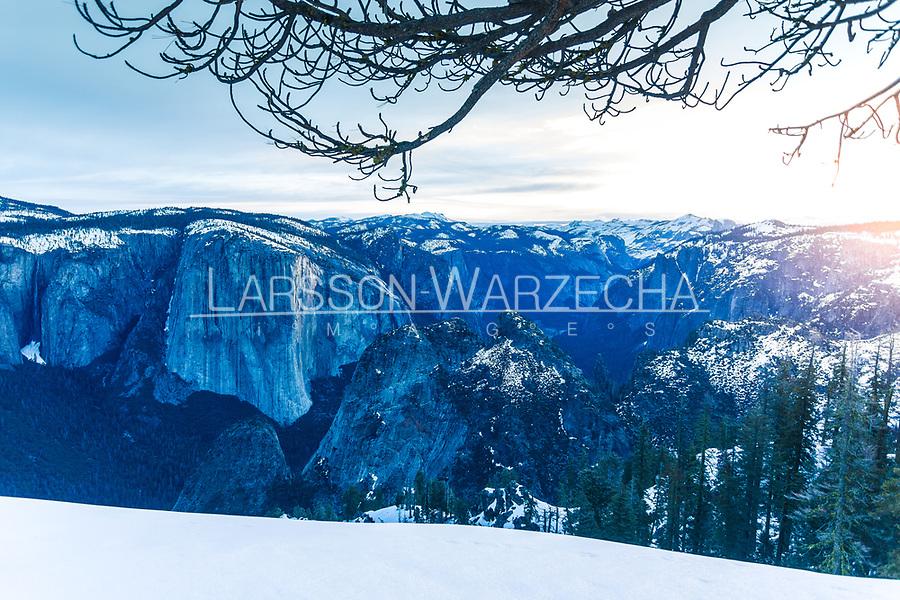 Dawn Wall, El Capitan at sunrise, Yosemite NP, California, USA
