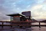Modern architechture in the Amsterdam harbor.