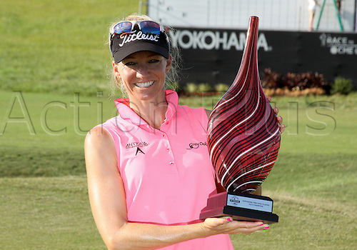 30.08.2015. Prattville, AL, USA.  Kris Tamulis of Naples, Florida wins the Yokohama Tire LPGA Classic at the RTJ Capitol Hill Golf Course in Prattville, AL.
