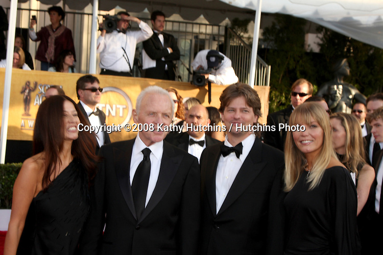 Anthony Hopkins & Family . arriving at the Screen Actors Guild Awards, at the Shrine Auditorium in Los Angeles, CA on .January 25, 2009.©2008 Kathy Hutchins / Hutchins Photo..