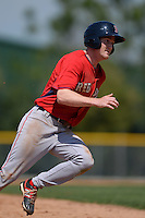 Boston Red Sox Derek Miller (47) during a minor league spring training game against the Baltimore Orioles on March 18, 2015 at Buck O'Neil Complex in Sarasota, Florida.  (Mike Janes/Four Seam Images)