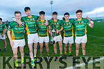 At the Munster Schools Under 18 1/2 Corn Uí Mhuirí Final Tralee CBS v St Brendans College on Saturday at Austin Stack Park. Pictured Donnchadh O'Sullivan Jake Flynn, Diarmuid Brosnan, Ciaran Flynn, Evan Cosgrave, Niall Donohue