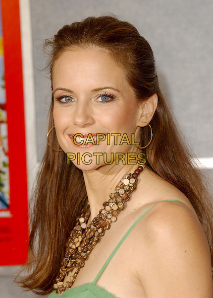 "KELLY PRESTON .The Walt Disney Picyures' World Premiere of ""Sky High"" held at The El Capitan Theatre in Hollwyood, California..July 24th, 2005.headshot portrait beaded brown necklace bronze hoop earrings.www.capitalpictures.com.sales@capitalpictures.com.Supplied By Capital PIctures"