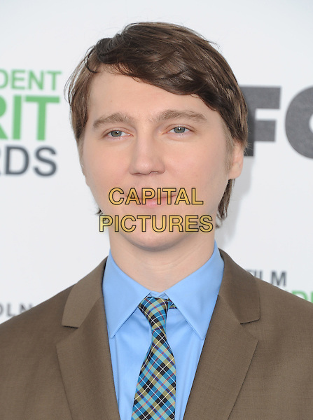 SANTA MONICA, CA, MARCH 01: Paul Dano at The 2014 Film Independent Spirit Awards held at Santa Monica Beach in Santa Monica, California, USA on March 1st, 2014.                                                                              <br /> CAP/DVS<br /> &copy;Debbie VanStory/Capital Pictures