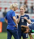 09.06.2019 England v Scotland Women: Kim Little and Shelley Kerr