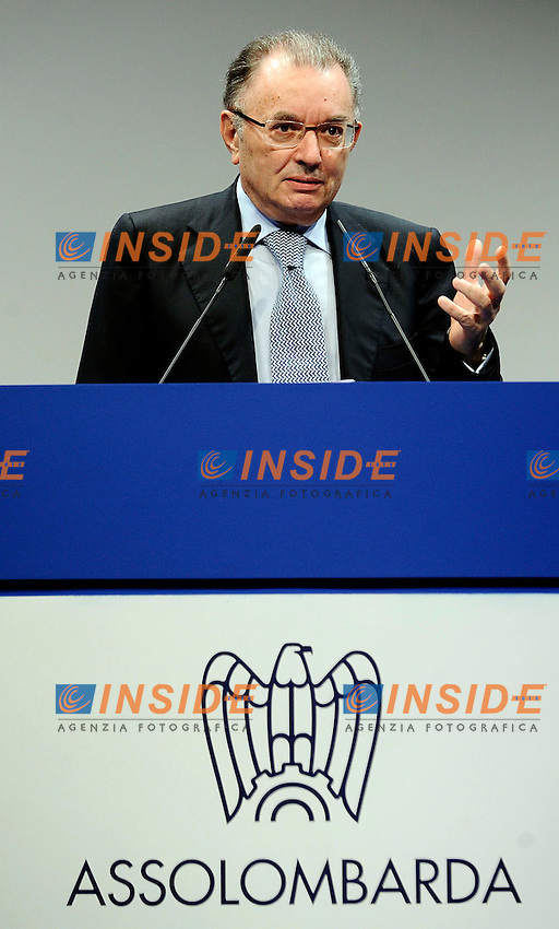 Giorgio Squinzi<br /> Milano 10/06/2013 - Assemblea Generale Assolombarda <br /> foto Andrea Ninni/Image/Insidefoto