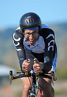 Jason Kelly (Ramblers) Masters Men 3 time trials. Time trials on Day One of the 2018 NZ Age Group Road Cycling Championships in Carterton, New Zealand on 20 April 2018. Photo: Dave Lintott / lintottphoto.co.nz