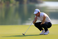 Emiliano Grillo (ARG) on the 18th green during the 3rd round at the WGC HSBC Champions 2018, Sheshan Golf CLub, Shanghai, China. 27/10/2018.<br /> Picture Fran Caffrey / Golffile.ie<br /> <br /> All photo usage must carry mandatory copyright credit (&copy; Golffile | Fran Caffrey)