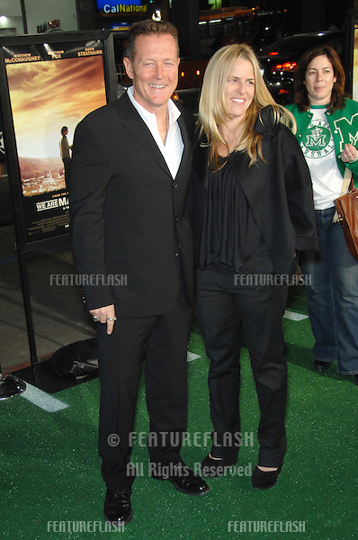 "ROBERT PATRICK & wife BARBARA PATRICK at the Los Angeles premiere of ""We Are Marshall"" at Grauman's Chinese Theatre, Hollywood..December 14, 2006  Los Angeles, CA.Picture: Paul Smith / Featureflash"