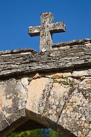 Europe/France/Aquitaine/24/Dordogne/Besse: L'église romane - détail du portail