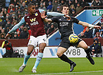 Caglar Soyuncu of Leicester City challenges Wesley of Aston Villa League match at Villa Park, Birmingham. Picture date: 8th December 2019. Picture credit should read: Darren Staples/Sportimage