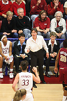 19 March 2007: Tara Vanderveer during Stanford's 68-61 second round loss to Florida State in the 2007 NCAA Division I Women's Basketball Championships at Maples Pavilion in Stanford, CA.