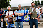 Yorkshire fans with Phil Hegarty Chairman of the Yorkshire International Football Association. Yorkshire v Parishes of Jersey, CONIFA Heritage Cup, Ingfield Stadium, Ossett. Yorkshire's first competitive game. The Yorkshire International Football Association was formed in 2017 and accepted by CONIFA in 2018. Their first competative fixture saw them host Parishes of Jersey in the Heritage Cup at Ingfield stadium in Ossett. Yorkshire won 1-0 with a 93 minute goal in front of 521 people.