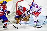 4 December 2008: Montreal Canadiens' goaltender Carey Price in action against the New York Rangers at the Bell Centre in Montreal, Quebec, Canada. The Canadiens, celebrating their 100th season, played in the circa 1915-1916 uniforms for the evenings' Original Six matchup. *****Editorial Use Only*****..Mandatory Photo Credit: Ed Wolfstein Photo