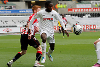 Npower Championship, Swansea City FC (white) V Sheffield United. Sat 7th May 2011 (12.45pm KO)<br /> Pictured: Nathan Dyer of Swansea goes around Shef Utd player Stephen Quinn<br /> Picture by: Ben Wyeth / Athena Picture Agency<br /> info@athena-pictures.com<br /> 07815 441513