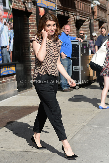 WWW.ACEPIXS.COM <br /> May 7, 2015 New York City<br /> <br /> Tina Fey after taping an appearance on the Late Show with David Letterman on May 7, 2015 in New York City.<br /> <br /> Please byline: Kristin Callahan/ACE Pictures  <br /> <br /> ACEPIXS.COM<br /> Ace Pictures, Inc<br /> tel: (212) 243 8787 or (646) 769 0430<br /> e-mail: info@acepixs.com<br /> web: http://www.acepixs.com