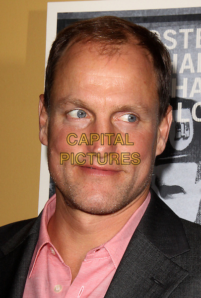 "WOODY HARRELSON.Premiere of ""The Messenger"" at Clearview Chelsea Cinemas, New York, NY, USA, .8th November 2009..portrait headshot pink shirt.CAP/ADM/PZ.©Paul Zimmerman/AdMedia/Capital Pictures."