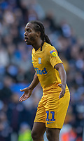 Preston North End's Daniel Johnson protesting referee Dean Whtestone's decision<br /> <br /> Photographer David Horton/CameraSport<br /> <br /> The EFL Sky Bet Championship - Reading v Preston North End - Saturday 19th October 2019 - Madejski Stadium - Reading<br /> <br /> World Copyright © 2019 CameraSport. All rights reserved. 43 Linden Ave. Countesthorpe. Leicester. England. LE8 5PG - Tel: +44 (0) 116 277 4147 - admin@camerasport.com - www.camerasport.com