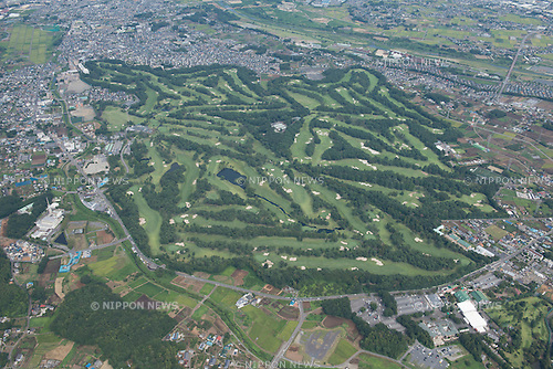 Kasumigaseki Country Club: Tokyo, Japan: Aerial view of proposed venue for the 2020 Summer Olympic Games. (Photo by AFLO)