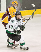 Alex Goligoski (UMN-10), Mike Prpich (UND-19) - The University of Minnesota Golden Gophers defeated the University of North Dakota Fighting Sioux 4-3 on Saturday, December 10, 2005 completing a weekend sweep of the Fighting Sioux at the Ralph Engelstad Arena in Grand Forks, North Dakota.