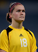 Erin McLeod. The USWNT defeated Canada in extra time, 2-1, during the 2008 Beijing Olympics in Shanghai, China.