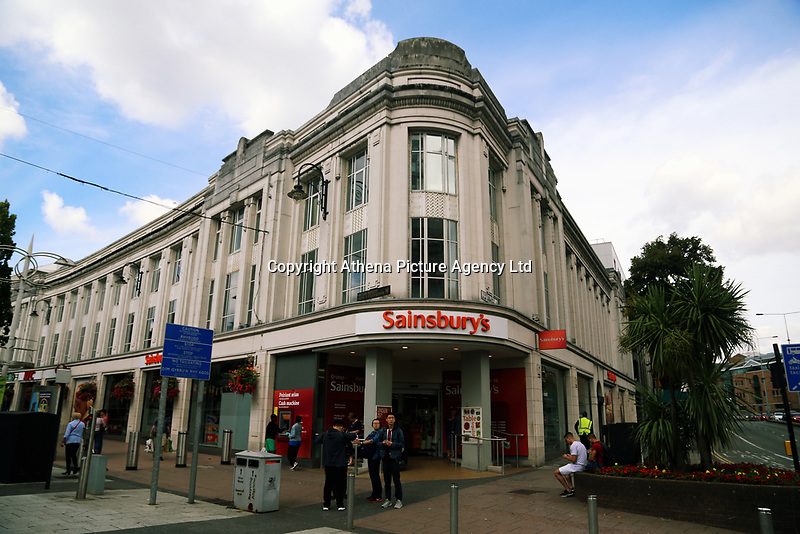 Sainsbury's store in Queen Street, Cardiff, Wales, UK.