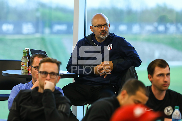 Kansas City, KS - Thursday, April 17, 2019: U.S. Soccer B coaching course at the National Development Center in Kansas City, Kansas.