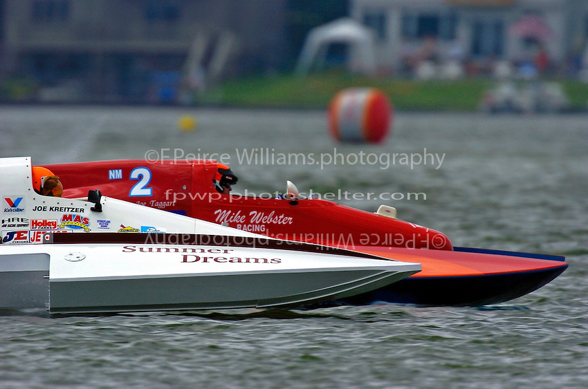 "Joe Kreitzer, NM-10 ""Summer Dreams"",(National Mod class hydroplane) and Mike Webster, NM-2 (National Mod class hydroplane)"