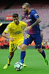 League Santander 2017/2018 - Game: 7.<br /> FC Barcelona vs UD Las Palmas: 3-0.<br /> Borja Herrera vs Aleix Vidal.