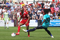 Sanchez Ming of Welling passes the ball upfield during Welling United vs Charlton Athletic, Friendly Match Football at the Park View Road Ground on 13th July 2019
