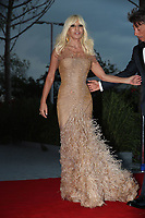 VENICE, ITALY - SEPTEMBER 01:  Donatella Versace attends the Franca Sozzanzi Award during the 74th Venice Film Festival on September 1, 2017 in Venice, Italy. <br /> CAP/GOL<br /> &copy;GOL/Capital Pictures /MediaPunch ***NORTH AND SOUTH AMERICAS ONLY***