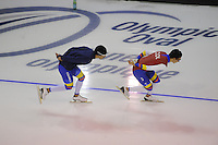 SPEEDSKATING: CALGARY: 12-11-2015, Olympic Oval, training, skaters Columbia, ©foto Martin de Jong