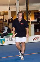 22-2-08, Netherlands, Rotterdam,  ABNAMROWTT 2008, Joep Sertons aan de padeltennis