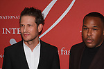 Uri Minkoff (left) and sister Jason Rembert arrive at The Fashion Group International's Night of Stars 2017 gala at Cipriani Wall Street on October 26, 2017.