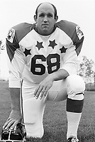Ken Sugarman 1970 Canadian Football League Allstar team. Copyright photograph Ted Grant
